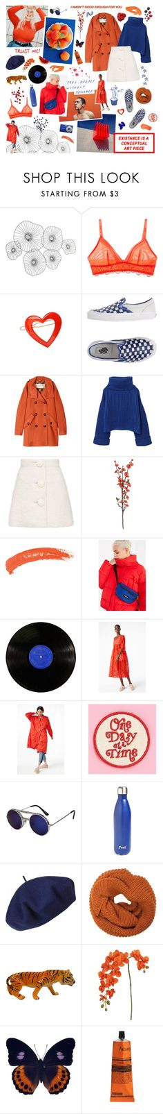 """""""A PUBLIC MELTDOWN"""" by quiffhead ❤ liked on Polyvore featuring Cyan Design, Underella by Ella Moss, France Luxe, Vans, Burberry, MANGO, Topshop, Eastpak, Monki and Spitfire"""