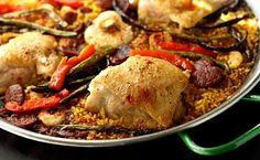 Chicken, Shrimp, Chorizo Paella