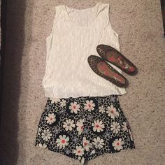 Floral shorts! Adorable, floral shorts for spring/summer! NWT! Say size M but fit more like a Small.  Joyce Shorts