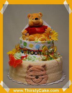 Diaper cake Winnie the Pooh