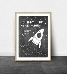 Check out our rocket ships for kids selection for the very best in unique or custom, handmade pieces from our shops. Printing Services, Online Printing, Dinosaur Birthday Invitations, How To Make Banners, Childrens Wall Art, Kids Room Wall Art, Contemporary Wall Art, Chalkboard Art, Baby Room Decor