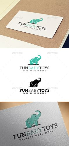 Fun Baby Toys  Template Logo Design Template Vector #logotype Download it here: http://graphicriver.net/item/fun-baby-toys-logo-design-template/9611172?s_rank=416?ref=nexion