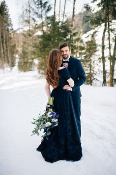 Navy Blue Winter Wedding Inspiration