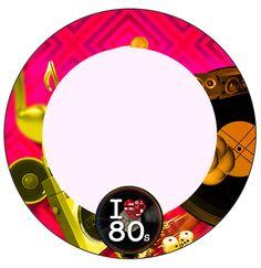 Anos 80 – Kit Completo com molduras para convites, rótulos para guloseimas, lembrancinhas e imagens!