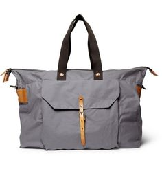 Freddie Waxed-Cotton Holdall Bag / Ally Capellino #bag #mens #tote