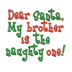 Christmas Machine Embroidery Pattern Santa. Could see Bella saying this lol.