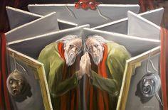 LO SPECCHIO ..e fu sempre teatro per cercare Dio, poi lo trovò così: levò la D, rimase l'IO!...