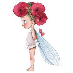 Sticker Petite fée Lisette pour la décoration d'une chambre de fille