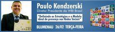"""Palestra """"Definindo as estratégias e o modelo ideal de presença nas redes sociais"""". #cafecominternet #redessociais #paulokendzerski #wbibrasil Internet, Social Networks, Model"""