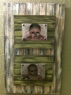 Bead Board Distressed Frames.