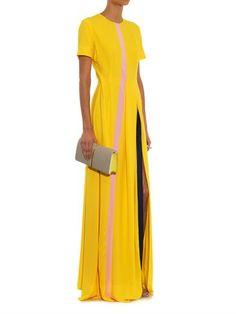 Roksanda Stripe-detail crepe dress