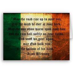 Irish Blessing on distressed Ireland Flag background