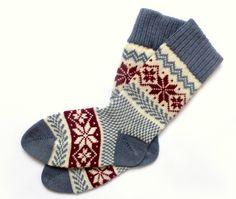 Knit wool socks with patterns Scandinavian Style Christmas wool socks Women wool socks Winter wool socks Scandinavian Pattern, Scandinavian Style, Womens Wool Socks, Christmas Gift Wrapping, Boyfriend Gifts, Womens Scarves, Burgundy, Knitting, Patterns