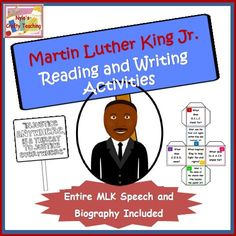 These are writing activities that are focused on the life of Martin Luther King Jr. and in particular, his famous 'I Have a Dream' speech. #MLK $