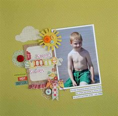 100 Days of Summer by Simple Stories - Love the simplicity of this layout.