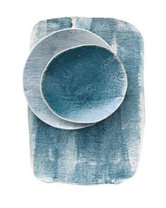 Handmade porcelain and stoneware ceramics by Michele Michael. Ceramic Clay, Ceramic Plates, Ceramic Pottery, Assiette Design, Paperclay, Plates And Bowls, Blue Plates, Cool Ideas, Ceramic Design
