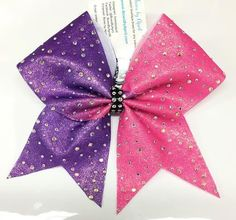 Bows by April - Full Bling Scattered AB Crystals Mystique or Glitter Ombre Cheer Bow, $25.00 (http://www.bowsbyapril.com/full-bling-scattered-ab-crystals-mystique-or-glitter-ombre-cheer-bow/)