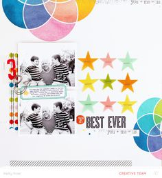 #papercraft #scrapbook #layout. Best Ever by Kelly Noel at @studio_calico