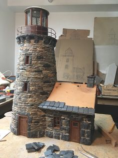 Kitchen Fitters, Miniature Crafts, Fairy Doors, Old Buildings, Table Games, Art Model, Map Art, Lighthouses, Windmill