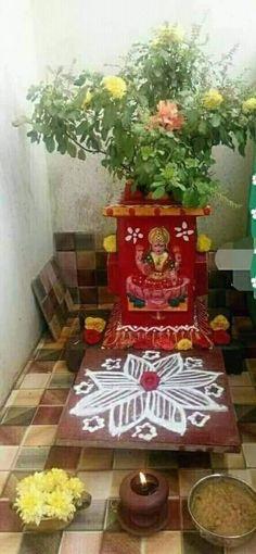 Rangoli Designs Flower, Flower Rangoli, Diwali Decorations, Festival Decorations, Tulasi Plant, Tulsi Vivah, Ganesha Rangoli, Alpona Design, Pooja Room Door Design