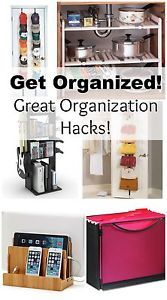 Get Organized! When my house is a mess and unorganized it puts me in a pretty foul mood.  I cannot stand clutter and piles of papers.  I like nice, clean counters and everything in its place.  Now...if...
