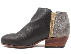 An upgraded version of your favorite black ankle boot.