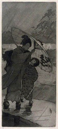 A Rainy Night by Helen Hyde, 1906