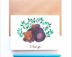 Father's day 'I love you' card by Friends in the Leaves