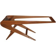 Argentine Mid-Century Modern asymmetrical coffee table, 1950s
