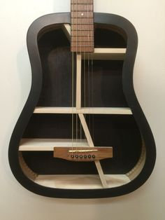 Guitar Shelf #51.Recycled full size acoustic guitar with custom shelves. by aRRtstudios on Etsy