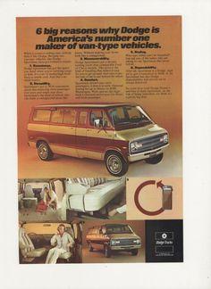107190c12a 1977 Advertisement Dodge Vans Trucks Two Tone 70s Driver Owner Cargo  Utility Garage Shop Dealership