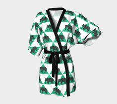 Geometric Elephant Kimono
