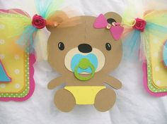 Teddy+bear+baby+shower+banner+its+a+girl+by+NancysBannerBoutique,+$35.00