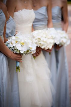style me pretty - real wedding - usa - california - newport coast wedding - pelican hill resort - bride & bridesmaids - bridal bouquet & bridesmaids bouquets Wedding Bride, Dream Wedding, Wedding Dresses, Magical Wedding, Wedding Wishes, Gold Wedding, Wedding Bells, Garden Wedding, Wedding Colors