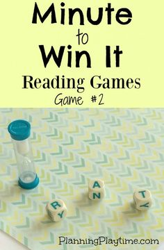 Minute to Win It Reading Games with Boggle pieces. Visit the blog for more fun games and activities.