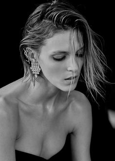 Anja Rubik by Chris Colls for Vogue Ukraine February 2017