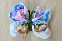 Coffee Filter Butterfly by SortingSprinkles, via Flickr