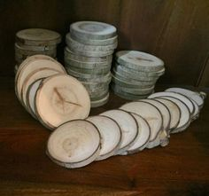 50-3-3-5-Rustic-Wedding-Wood-Tree-Slices-Decor-Disc-Tree-Log-Cabin-Coaster