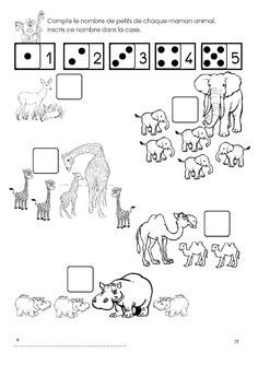 The ZOO: counts the number of pups of each animal mom. Preschool Zoo Theme, Le Zoo, Montessori Math, In The Zoo, Free Frames, Kids Learning Activities, Busy Book, Forest Animals, Exotic Pets