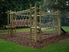 4 tower wooden climbing frame - jc gardens