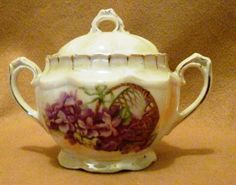 Antique Royal Bruxonia Austria Sugar Bowl with Oval Sun by TandRTreasures on Etsy