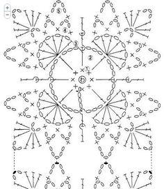 Crochet chart - unusual shape