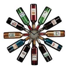 Wine Bottle Clock - 51-10085
