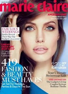 mare claire UK 's June issue 2012; Angelina Jolie