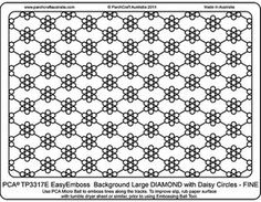 PCA Embossing Parchment Templates TP3301E - TP3325E lots of cool embossing folders on this site