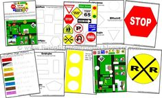 Top Ten Everyday Living Insurance Plan Misconceptions Traffic Signs Free Preschool Pack, Great For Mike Mulligan Or Katy And The Big Snow Free Preschool, Preschool Themes, Preschool Kindergarten, Transportation Theme Preschool, Community Helpers Preschool, Environmental Print, Fun Learning, Learning Activities, Tot School