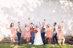 #amandatranbargerphotography #bridalparty #sunflowers #pink #zyntangofarm