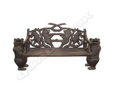 Please contacts us for asking detail about ANTIQUE VICTORIAN BEAR BENCH CARVED BACK