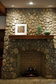Painted Rock Fireplaces On Pinterest Rock Fireplaces
