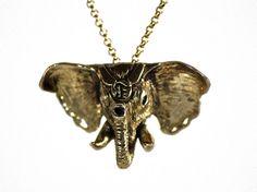 Royal Elephant Pendant by FlorencioDesigns on Etsy